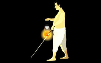 Man with lamp - moral stories in hindi